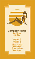 Orange Tanning Business Card Template
